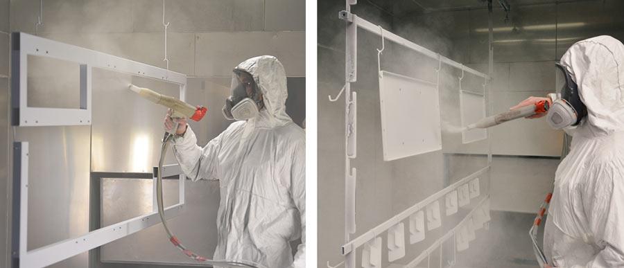 Powder paint shop